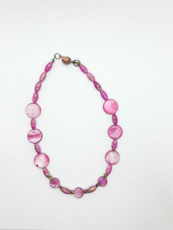 Paars/roze kettinkje