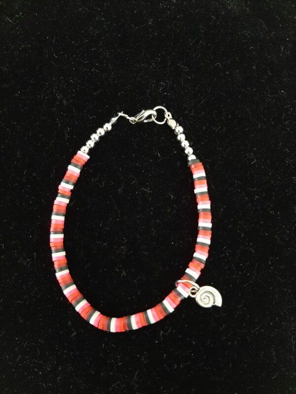 Polymeer, armband, roze, rood