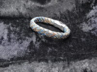 leren armband blauw bruin