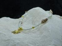 enkelbandjes, wit, schelpje, rocailles, gouden bedeltje, schilpadje