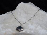 Zilver, ketting, medaillon